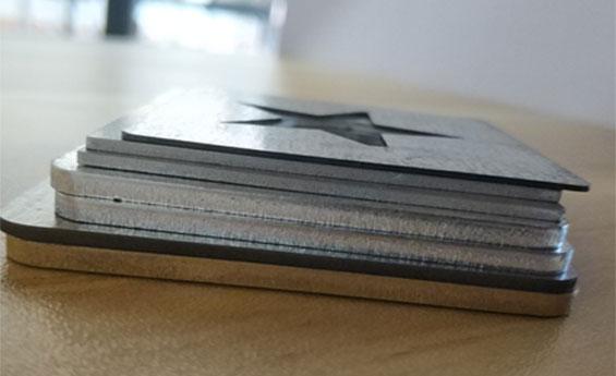 不锈钢,铜,铝切割样品